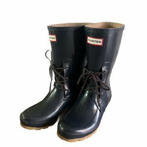 HUNTER Ackley Laced Navy WATERPROOF Rain Boots
